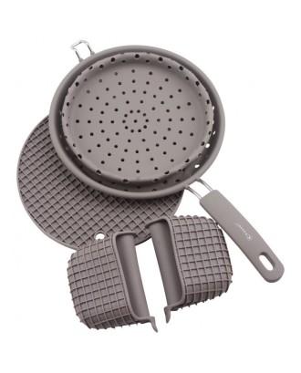 Virtuvinis silikono rinkinys su kiaurasamčiu 93705